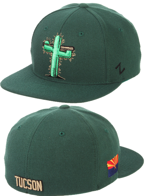 a1822b255ac  24.95 Tucson Saguaros Forest Green Game Hat..more