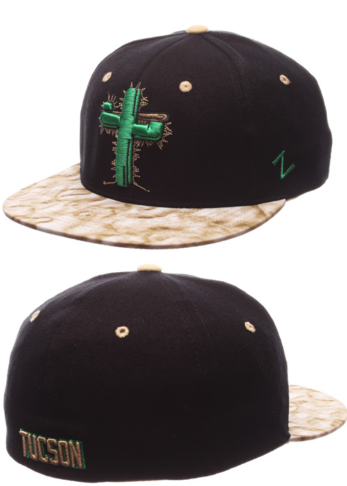 11d3120a81d  24.95 Tucson Saguaros Black Snapback Hat..more